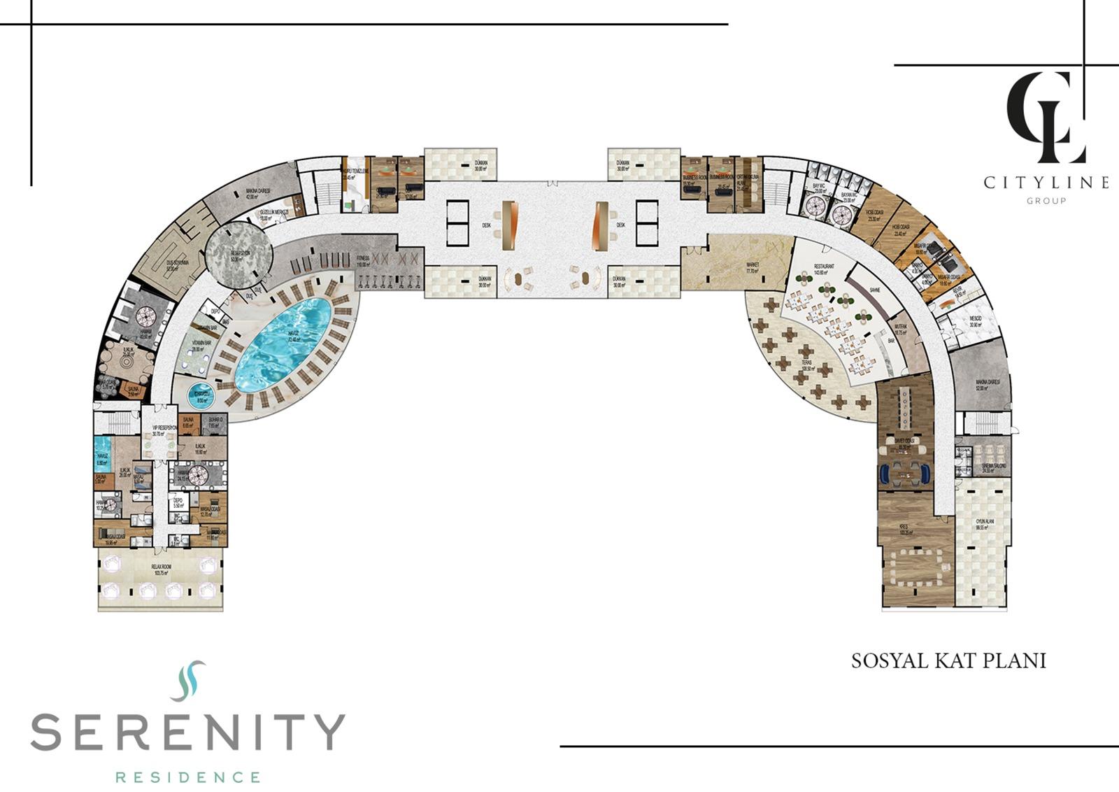 Social floor plan
