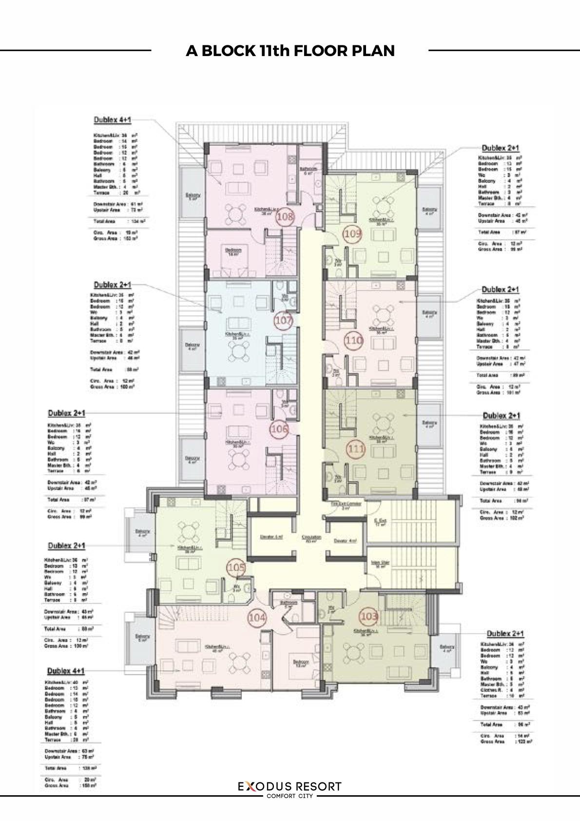 Exodus resort A block 11 floor